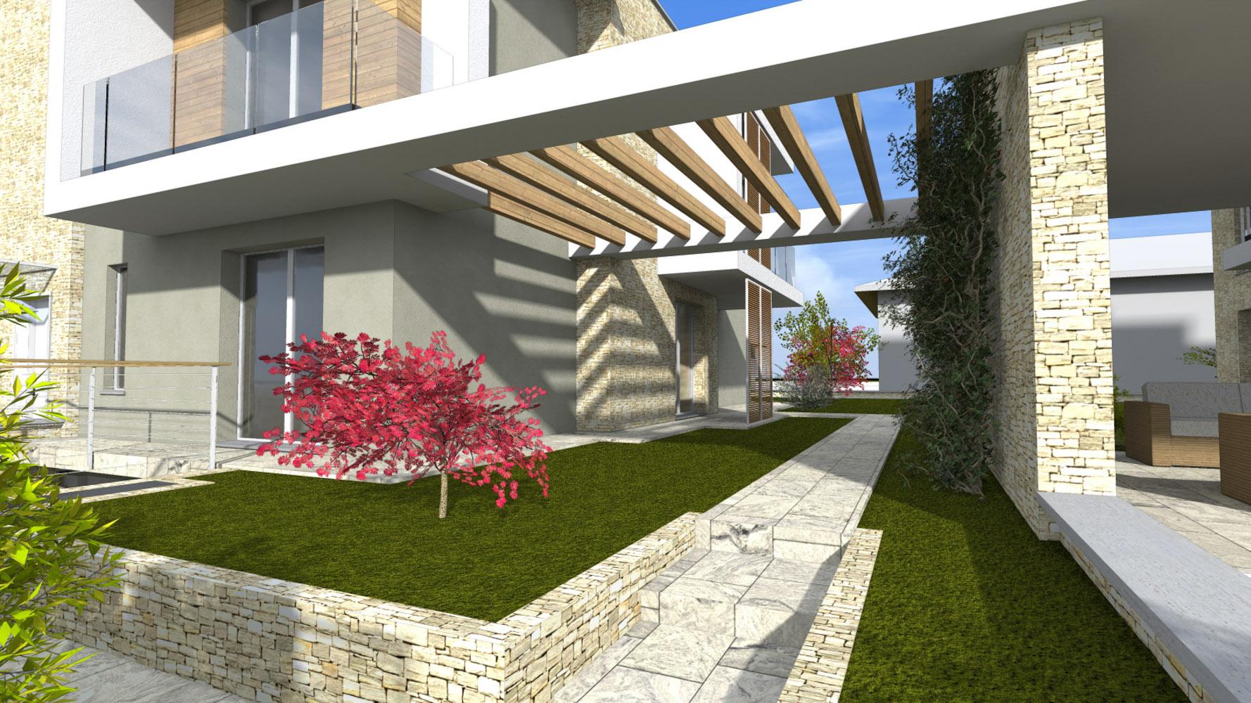 T2 trilocale con giardino for Produttore di piano terra del punto vendita