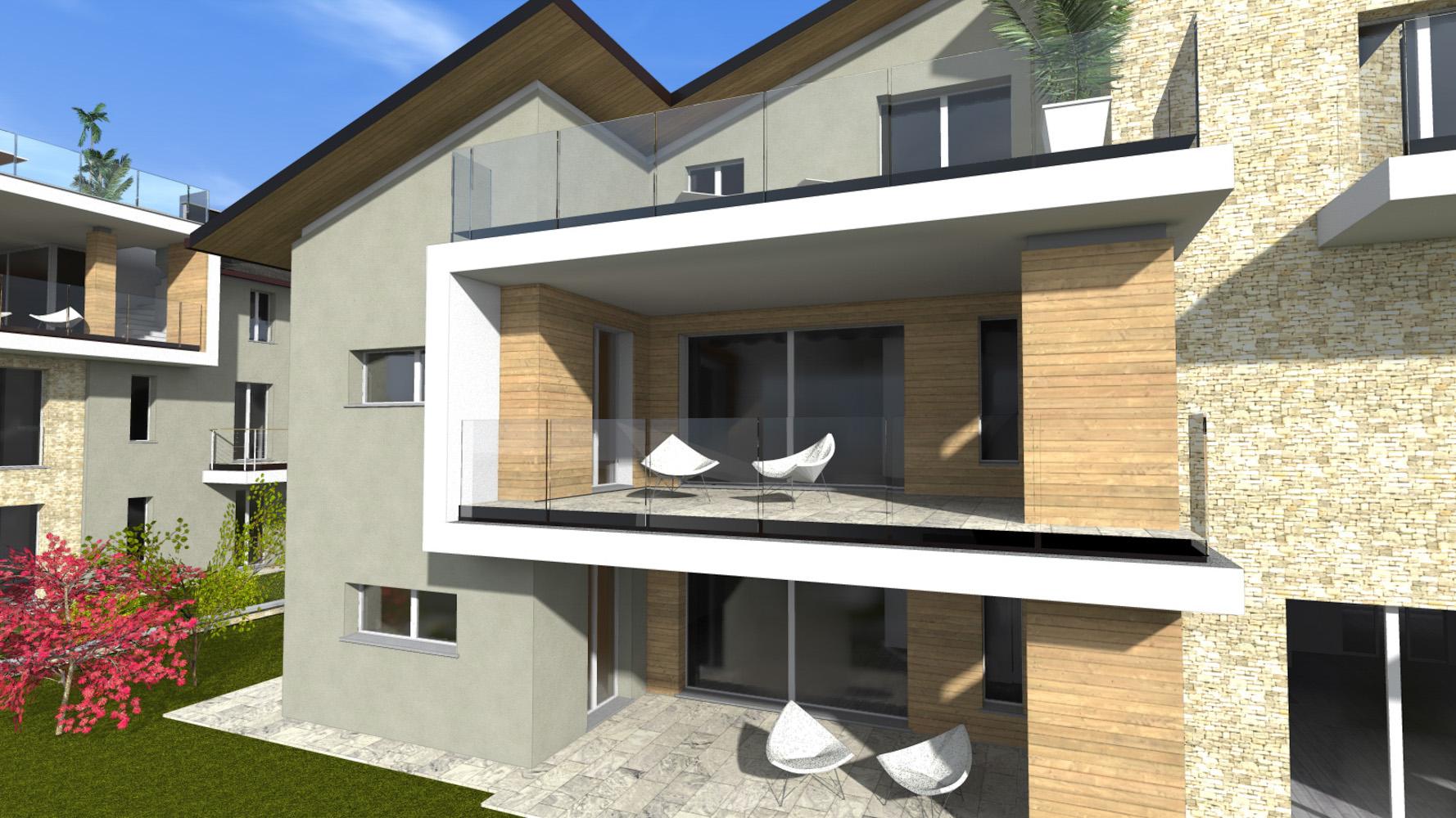 Q1 plurilocale con giardino for Palazzine moderne