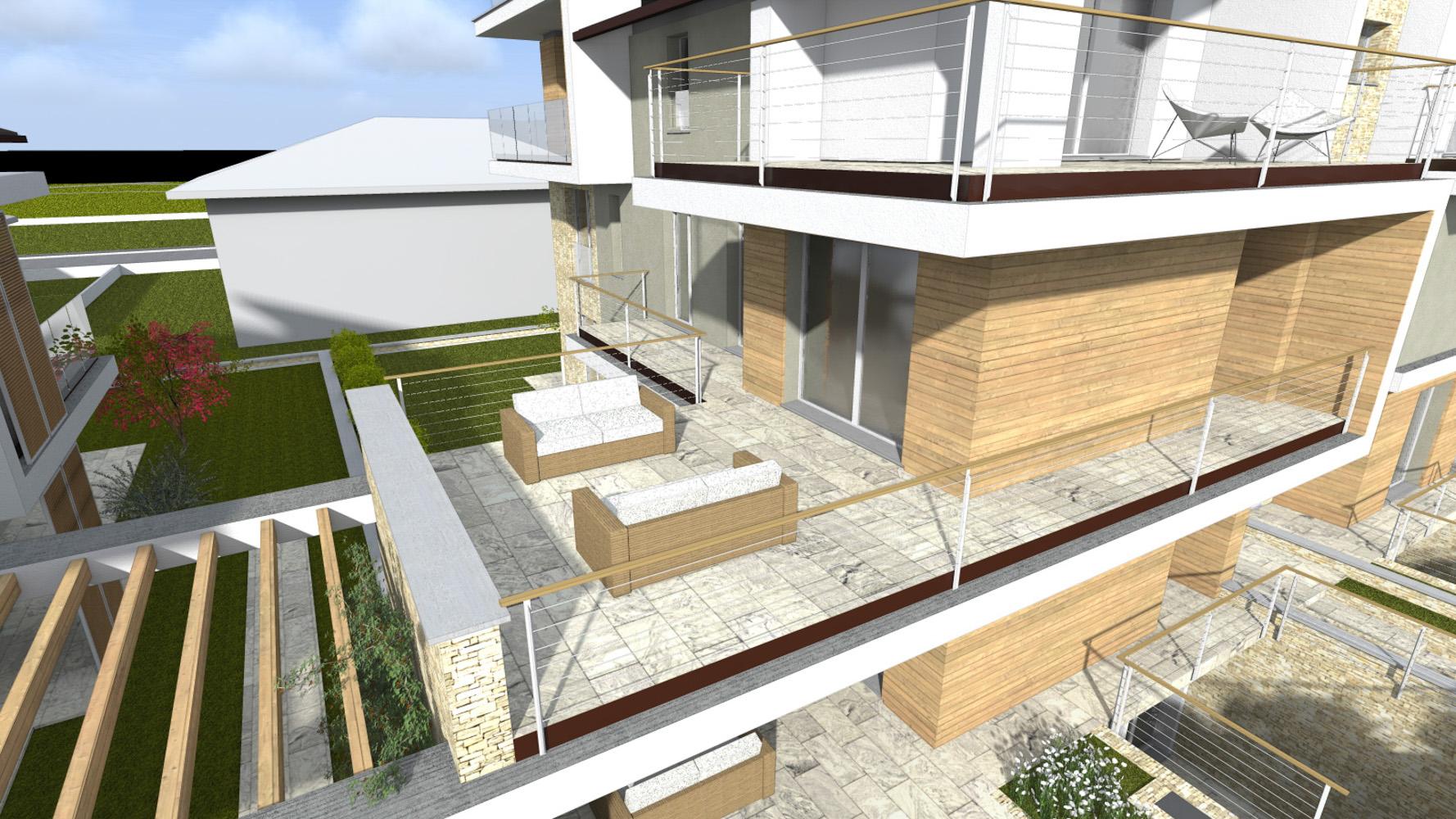 T1 trilocale con giardino for Produttore di piano terra del punto vendita